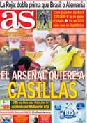 Portada diario AS del 6 de Junio de 2014