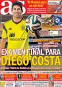Portada diario AS del 7 de Junio de 2014