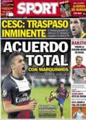 Portada diario Sport del 7 de Junio de 2014