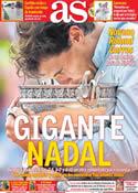 Portada diario AS del 9 de Junio de 2014