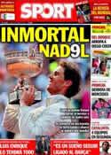 Portada diario Sport del 9 de Junio de 2014