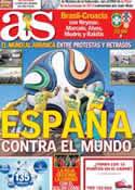 Portada diario AS del 12 de Junio de 2014