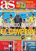 Portada diario AS del 13 de Junio de 2014