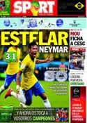 Portada diario Sport del 13 de Junio de 2014