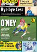Portada Mundo Deportivo del 13 de Junio de 2014