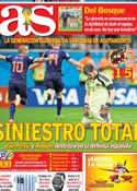 Portada diario AS del 14 de Junio de 2014