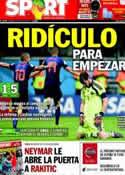 Portada diario Sport del 14 de Junio de 2014