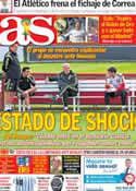 Portada diario AS del 15 de Junio de 2014