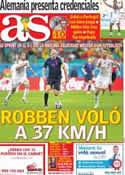 Portada diario AS del 17 de Junio de 2014