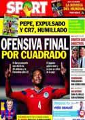 Portada diario Sport del 17 de Junio de 2014