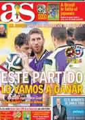 Portada diario AS del 18 de Junio de 2014