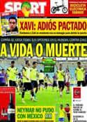 Portada diario Sport del 18 de Junio de 2014
