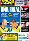 Portada Mundo Deportivo del 18 de Junio de 2014
