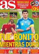Portada diario AS del 19 de Junio de 2014