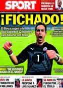 Portada diario Sport del 19 de Junio de 2014