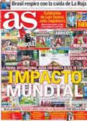 Portada diario AS del 20 de Junio de 2014