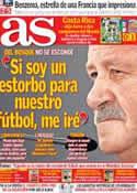 Portada diario AS del 21 de Junio de 2014