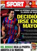 Portada diario Sport del 21 de Junio de 2014