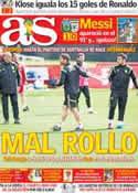Portada diario AS del 22 de Junio de 2014