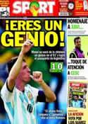 Portada diario Sport del 22 de Junio de 2014