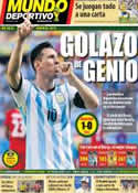 Portada Mundo Deportivo del 22 de Junio de 2014