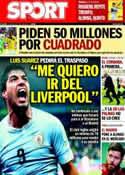 Portada diario Sport del 23 de Junio de 2014