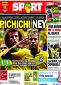 Portada diario Sport del 24 de Junio de 2014