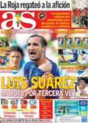 Portada diario AS del 25 de Junio de 2014