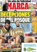 Portada diario Marca del 25 de Junio de 2014