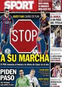 Portada diario Sport del 25 de Junio de 2014
