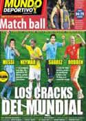 Portada Mundo Deportivo del 25 de Junio de 2014