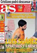 Portada diario AS del 27 de Junio de 2014