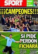 Portada diario Sport del 27 de Junio de 2014