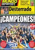 Portada Mundo Deportivo del 27 de Junio de 2014