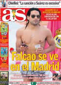 Portada diario AS del 28 de Junio de 2014