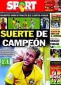 Portada diario Sport del 29 de Junio de 2014