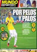 Portada Mundo Deportivo del 29 de Junio de 2014