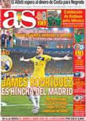 Portada diario AS del 30 de Junio de 2014