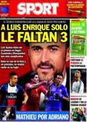 Portada diario Sport del 30 de Junio de 2014
