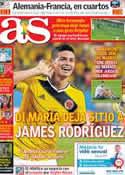 Portada diario AS del 1 de Julio de 2014