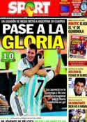 Portada diario Sport del 2 de Julio de 2014