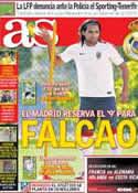 Portada diario AS del 3 de Julio de 2014