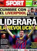 Portada diario Sport del 3 de Julio de 2014