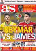 Portada diario AS del 4 de Julio de 2014