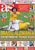 Portada diario AS del 5 de Julio de 2014