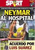 Portada diario Sport del 5 de Julio de 2014