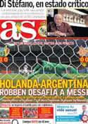 Portada diario AS del 6 de Julio de 2014