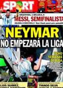 Portada diario Sport del 6 de Julio de 2014