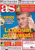 Portada diario AS del 7 de Julio de 2014