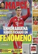 Portada diario Marca del 7 de Julio de 2014